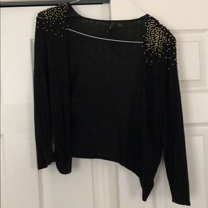 Black Studded Cover Up